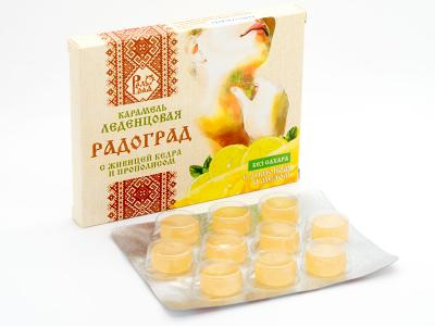"Throat lozenges with lemon and honey ""Radograd"", 10 pcs"