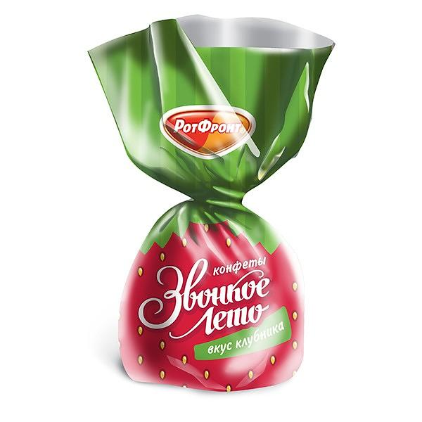 "Strawberry Jelly Candy ""Zvonkoe Leto"", 0.5 lb / 0.22 kg"