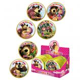 "Chocolate Medals ""Masha and the Bear"" Bear and Flowers, 0.88 oz / 25 g ""Shokoladnyi Dom"""