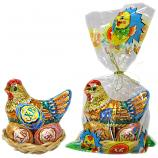 Easter Chocolate Set, Chicken & 2 Eggs,