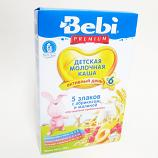Baby Milk Cereal with 5 Grains w/ Apricot & Raspberry , 7.05 oz / 200 g (Bebi)