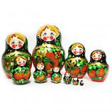 "Traditional Russian matryoshka ""Berry"" 10 psc"