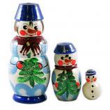 Matryoshka Snowman 3psc