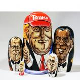 Donald Trump - made in Russia. Nesting Doll, Matreshka 5 psc/4.5""