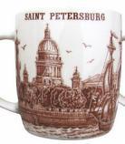 """Souvenir Porcelain Mug """"Vasilievsky Island""""/060-1-05"""