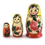 Semenovskaya Nesting Doll, 3 pcs