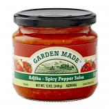 Garden Made Ajika Spicy Pepper Salsa Vegan, 12 oz / 340 g