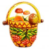 "Decorative Handmade Wooden ""Mushroom Basket"" w/ Natural Organic Flower Honey, 150 g/ 5.29 oz"