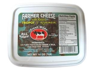 Farmer cheese with Rasins