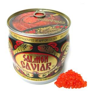 Salmon Red Caviar Russian Souvenir Can, 17.63 oz / 500 g