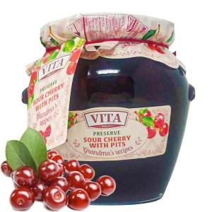 Cherry Preserve, Vita, 24 oz / 650 g