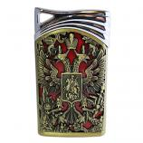"""Lighter Decorated with Coat of Arms of Russia (Bronze), 2.5"""""""