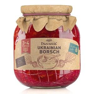 Red Borscht (Red Soup) in Glass Jar, 24.34 oz / 720 Ml