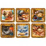 Russian Cuisine Coasters, 6 pcs