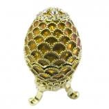 "Faberge Style Easter Opening Egg ""Pine Cone"" GOLDEN, 1.75"" (JD0259C-7)"