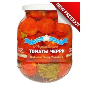 Premium Marinated Cherry Tomatoes, Kosher, Tescha's Recipes, 900 ml/ 1.98 lb