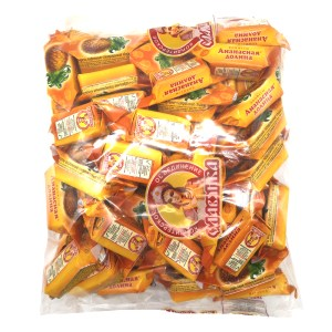 Chocolate-Coated Waffle Candies, Pineapple Valley, Slavyanka, 1 kg/ 2.2 lb