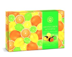 Assorted Citrus Chocolate Candy, 0.49 lb/ 220 g