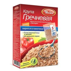 Uvelka Buckwheat Groats 5 x 80 Boil-in-Bags, 14.10 oz/ 400 g