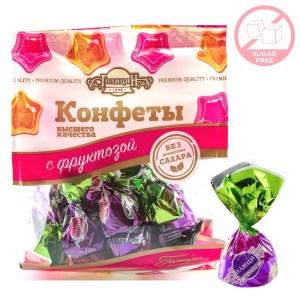 Sugar-Free Praline Dark Chocolate Candy w/ Nuts and Fructose, Golitsyn, 180g/ 0.4 lb