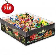 Chocolate-caramel assorted candy in festive paleh pattern box, 3 lb/ 1.40 kg