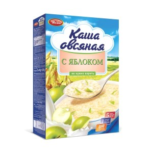 Instant Apple Oatmeal (5x40gr), Uvelka, 200 g