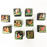"Russian Folk Bear Fairy Tales Palekh Miniature Lacquer Box, 1 pc, 1"" x 1"""