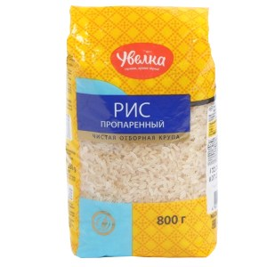 Long Grain Pre-steamed Rice Groats, Uvelka, 800 g / 1.7 lbs