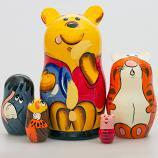 "Winnie the Pooh Nesting Doll Matryoshka, 7"" (5 pcs)"