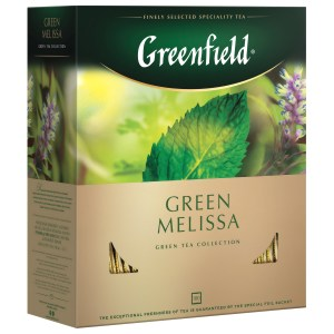 Greenfield Green Melissa Green Tea, 100 tea bags