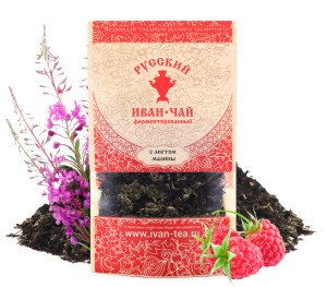 Ivan-Tea Fireweed Black Fermented Small-Leaf w/ Raspberry Leaf, Doypack Zip Lock, 50 g/ 0.11 lb