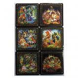 Palekh Coasters, 6 pcs
