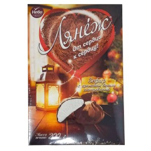 Vanilla Marshmallows Chocolate Glazed, Lyanezh, KF Neva, 200 gr/ 0.44 lb