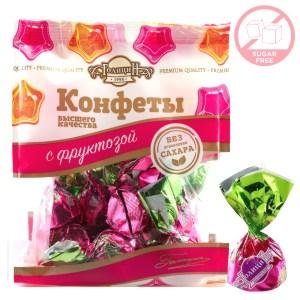Sugar-Free Praline Dark Chocolate Candy w/ Fructose, Golitsyn, 180g/ 0.4 lb
