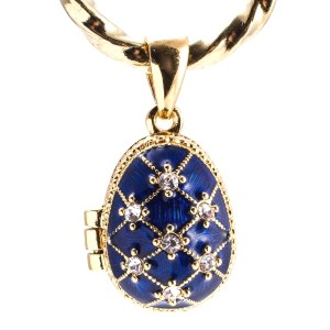 Locket Pendant Blue Stars with an Angel, 1