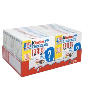 Pack of 20 Kinder Chocolate Sticks, 4 pieces