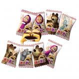 Masha and the Bear Toffee Candies with Chocolate, 2.64 oz / 75 g (small pack)