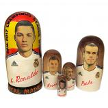 "Cristiano Ronaldo and Real Madrid Champions League Winner Nesting Doll, 5 pcs, 6.75"" / 17 cm"