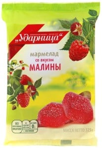 Marmalade Udarnitsa with Raspberry Flavor, 11.46 oz / 325 g