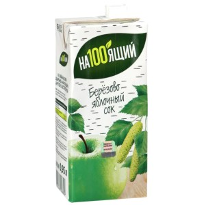 Birch Sap + Apple Juice with Sugar, Na100yaschiy, 950 ml/ 32.12 oz