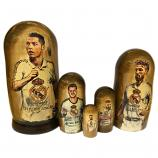 "Cristiano Ronaldo and Real Madrid C.F. Nesting Doll, 5 pcs, 6.75"" / 17 cm"