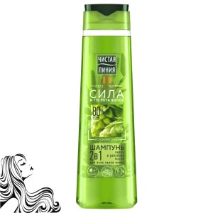Shampoo-Balm 2in1, Hops and Burdock Oil, Pure Line, 400ml/ 13.53 oz