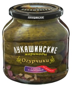 Pickled Cucumbers w/ Horseradish & Black Currant Village Style, 670 gr/ 1.48 lb