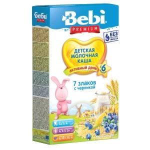 Bebi Milk Porridge, Blueberry and 7 Grains, 6 months +, 7.05 oz / 200 g