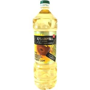 Premium Refined Deodorized Sunflower Oil Kubanochka, 1 L