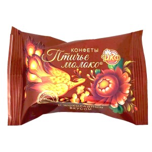 Chocolate Covered Chocolate Souffle Candy, Bird's Milk, IKF, 226 gr/ 0.5 lb