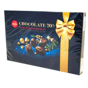 Assorted Chocolates Extra Dark Chocolate 70% cocoa, Laima, 215 g/ 0.47 lb