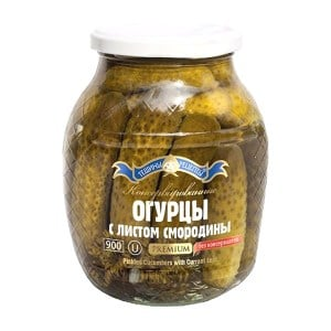 Pickled Cucumbers with Currant Leaf, 14.81 oz/420 g