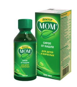 Dr. Mom syrup for cough and colds, 3.38 oz/ 100 ml
