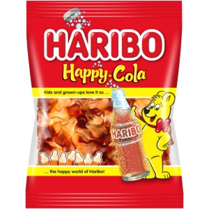 Gummy Candy Happy Cola, Haribo, 100g / 0.22 lb